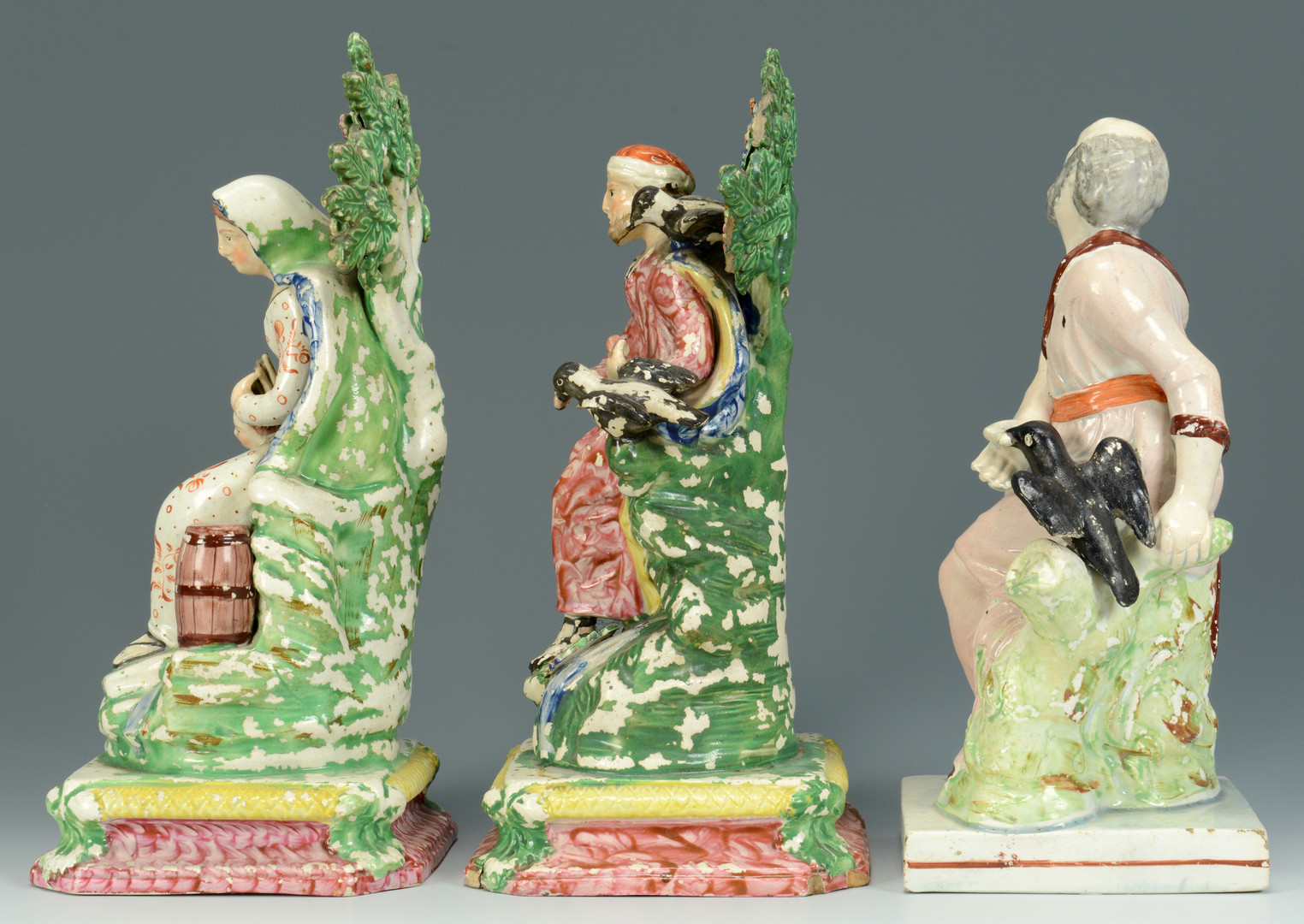 Lot 701: 3 Biblical figures att. Wood, Salt