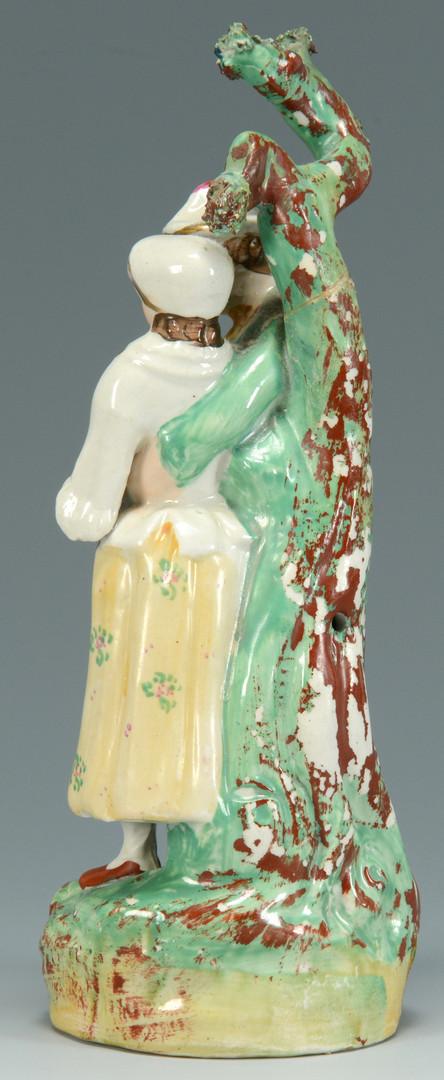 Lot 702: 5 Staffordshire Figurals inc. Gardeners