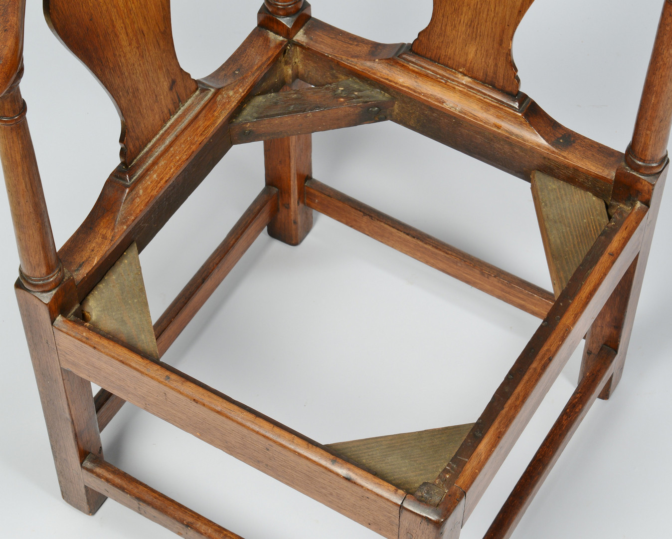 Lot 70: 18th C. Corner Chair, Poss. VA