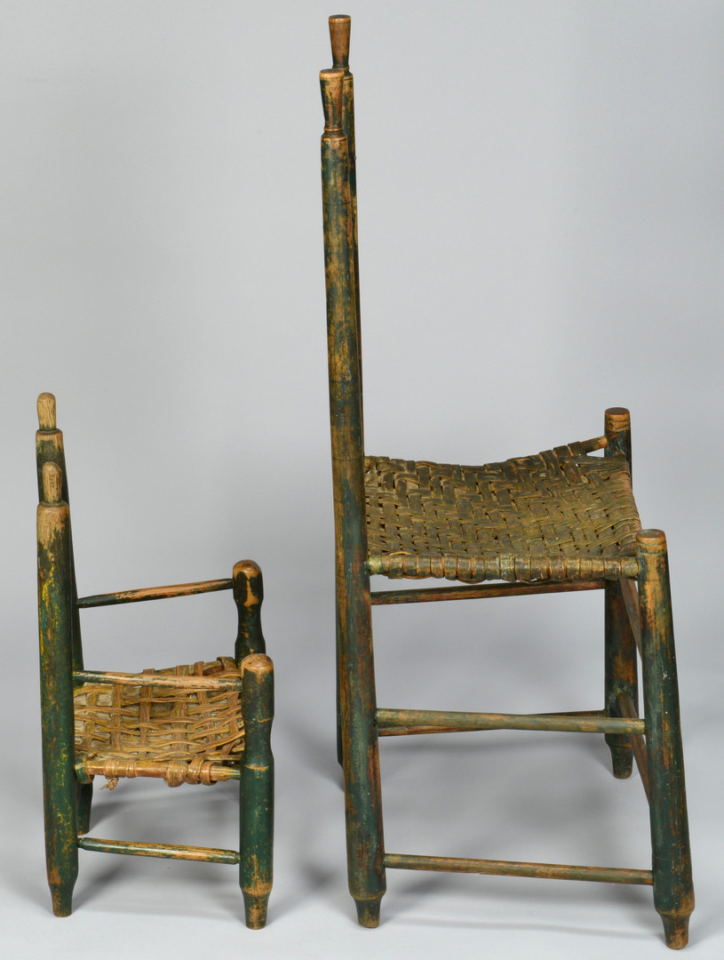 Lot 711: 2 Wilson Co. TN Painted Chairs