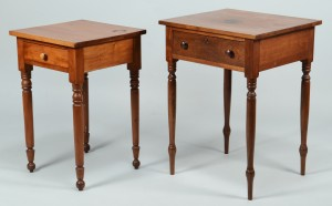 Lot 712: Two TN Sheraton Work Tables