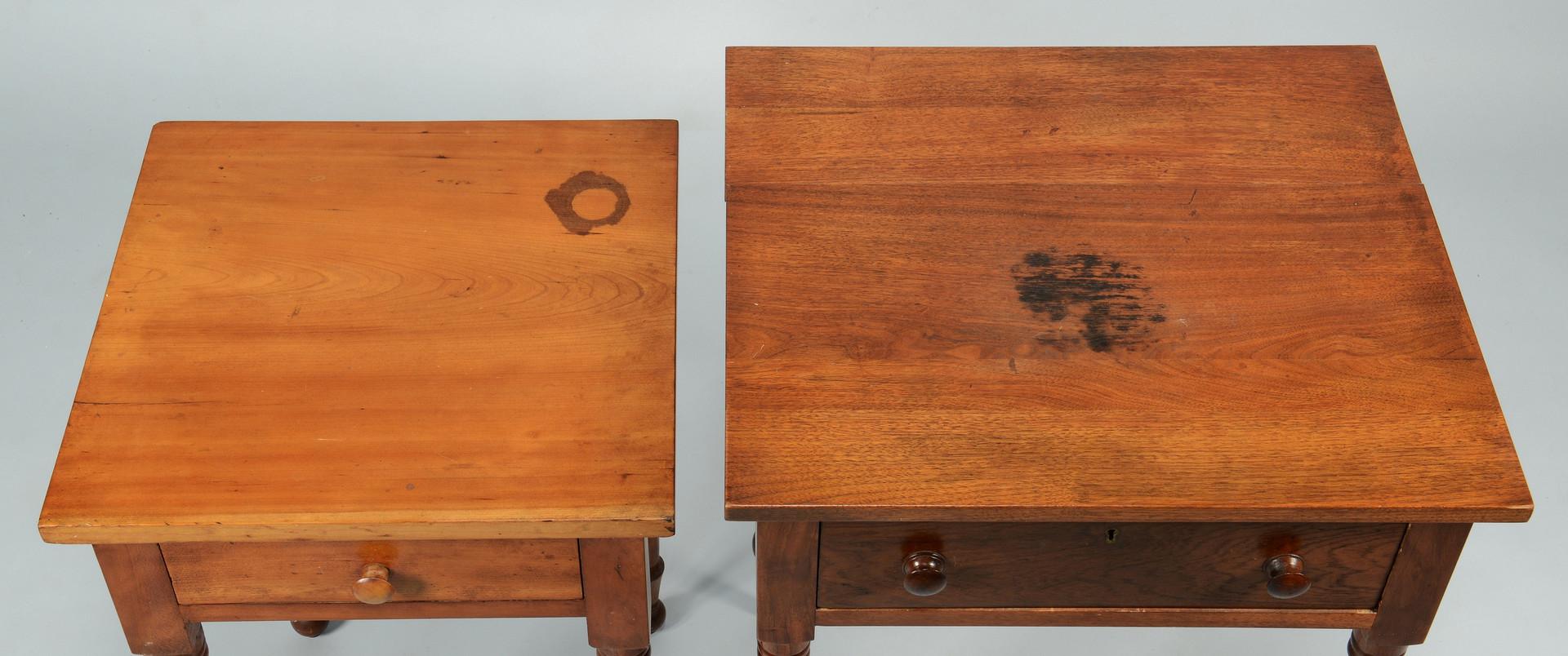 Lot 712: Two TN Sheraton Work Tables