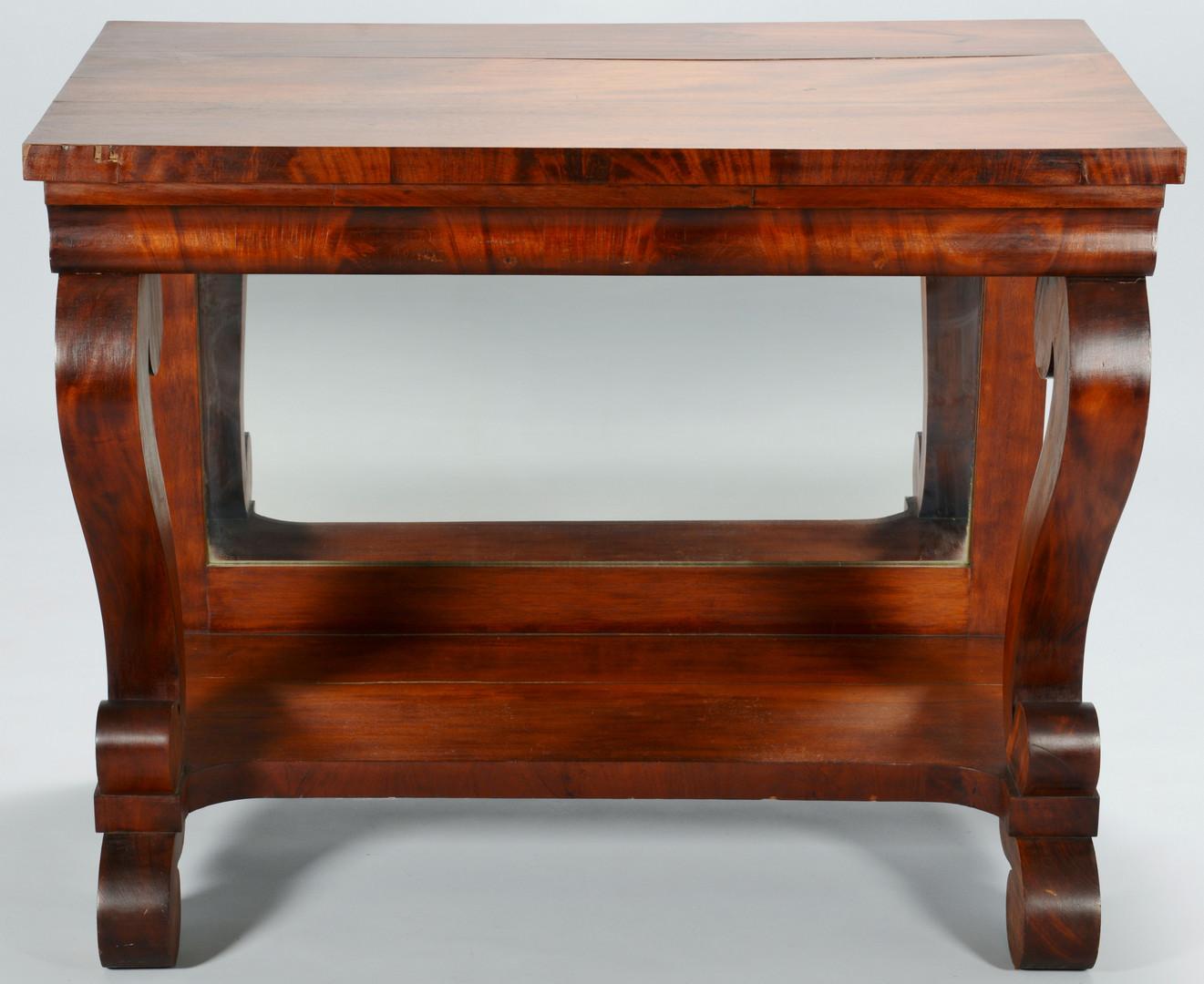 Lot 717: Empire Mahogany Pier Table