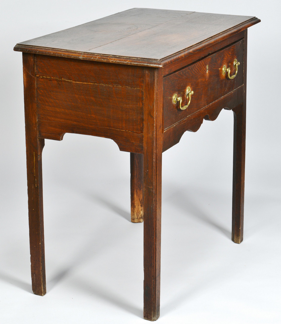 Lot 721: Chippendale oak dressing table