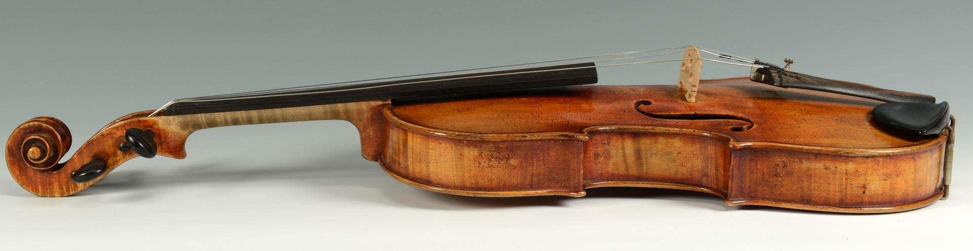 Lot 725: 19th c. German Violin w/ bow