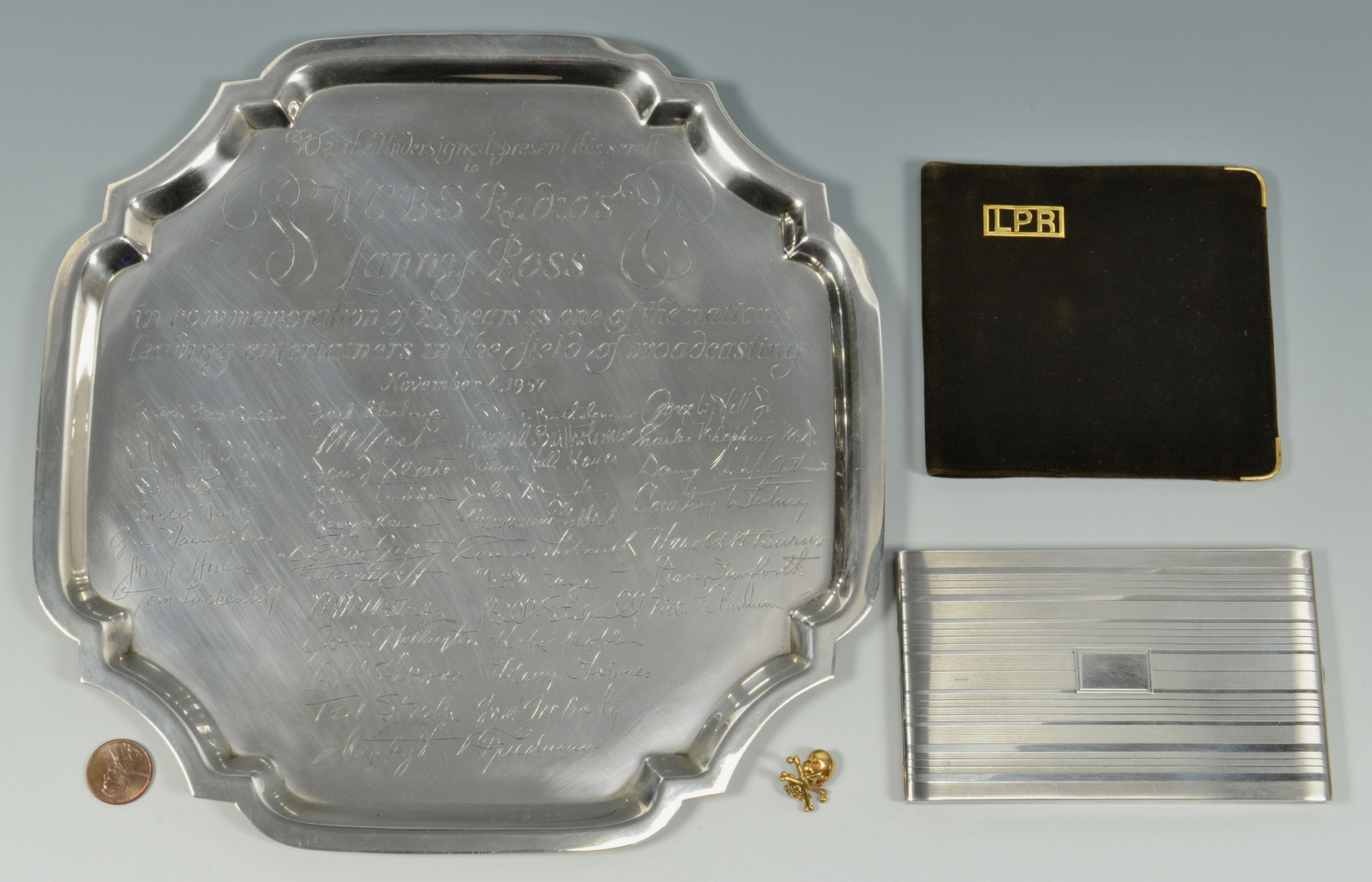 Lot 731: Lanny Ross Items w/ Sterling, 18k