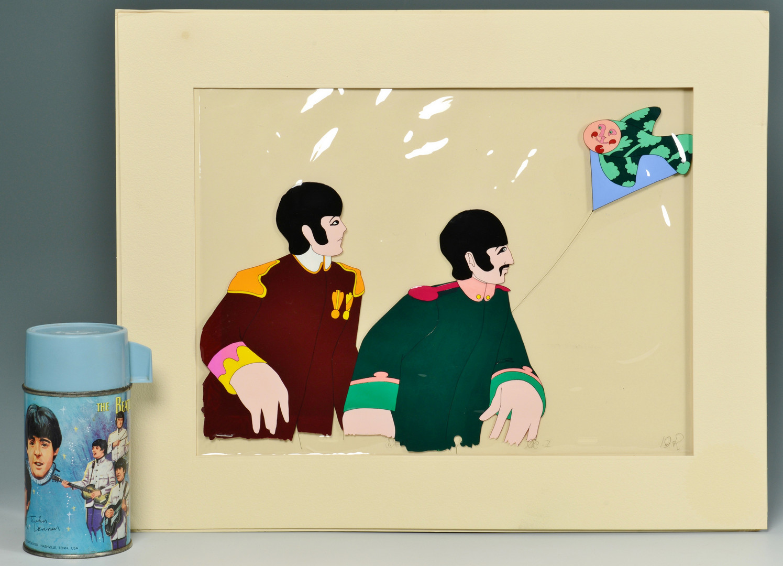 Lot 736: Beatles Yellow Submarine & 1966 Beatles Thermos