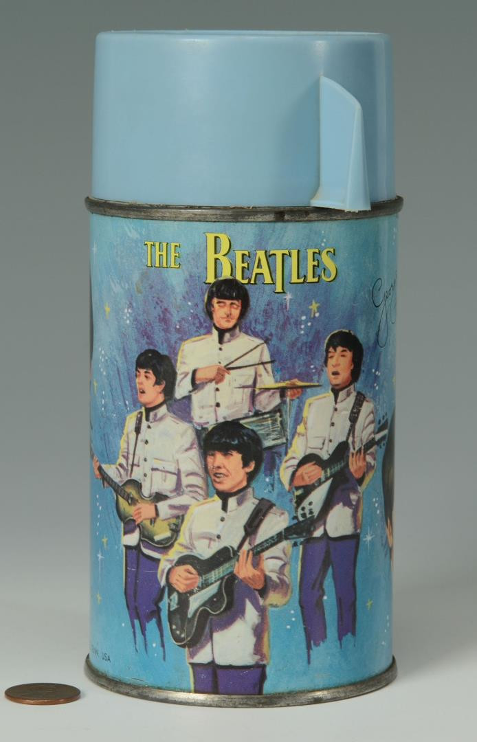 Lot 736: Beatles Yellow Submarine & 1966 Beatles Thermos
