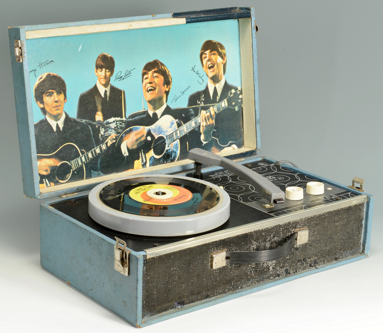 Lot 737 1964 Beatles Record Player Nems Amp One 45 Record