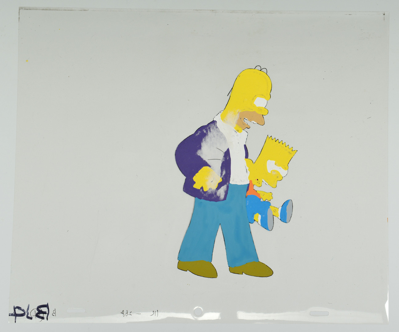Lot 738: The Simpsons Animation Cel, Homer & Bart