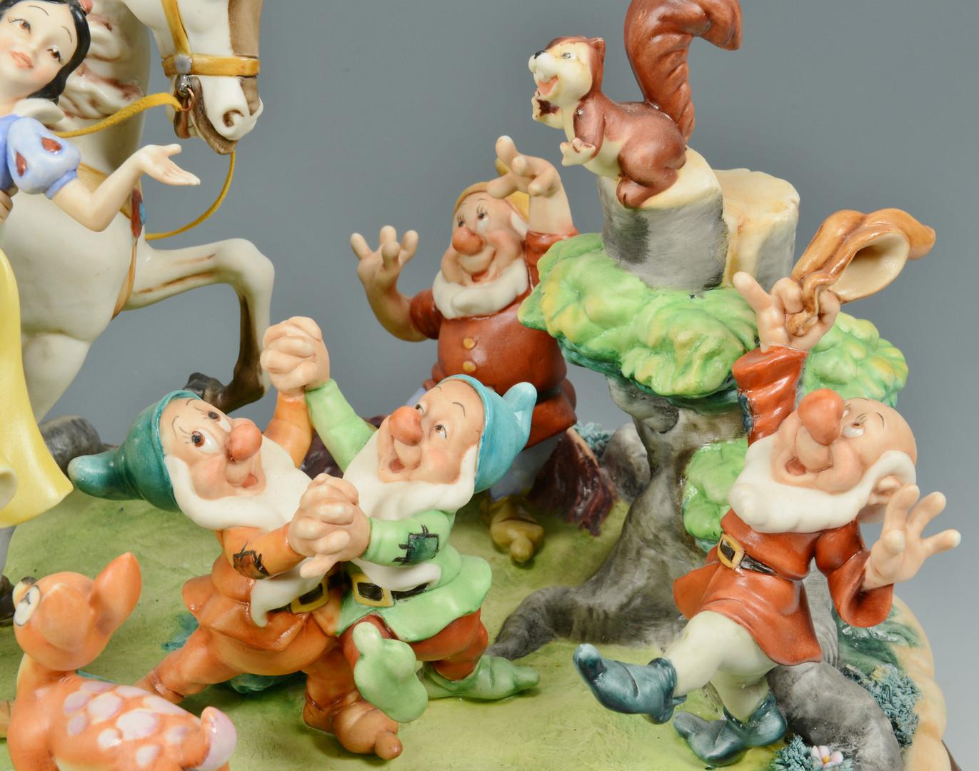 Lot 740: Capodimonte Snow White & Prince Figural