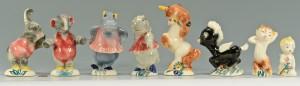 Lot 741: Vernon Kilns Fantasia Figures, 8 pcs