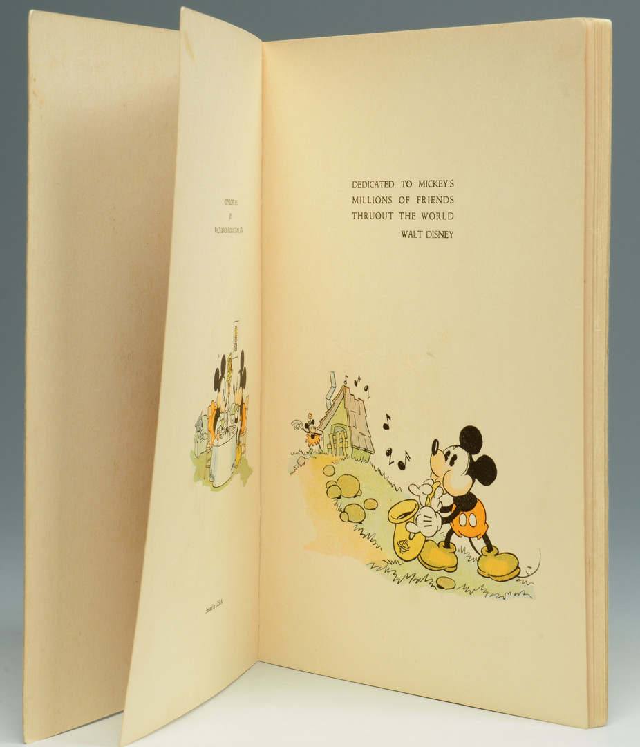 Lot 744: Mickey Mouse Book & Disney Studio Christmas Cards