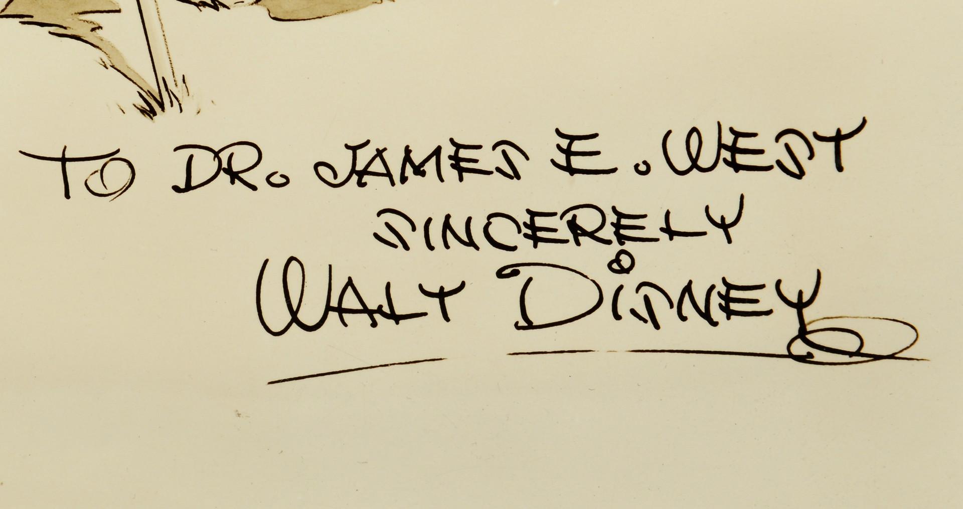 Lot 745: Disney Boy Scout Photograph to James West