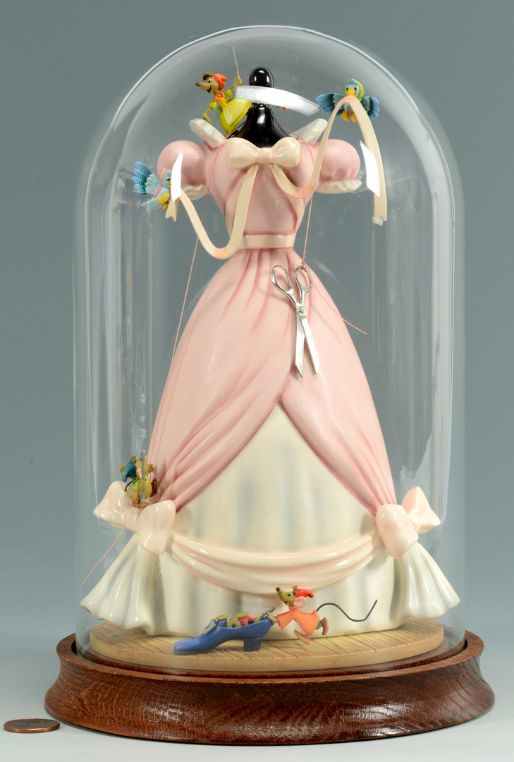 lot 747 disney cinderella dress figurine. Black Bedroom Furniture Sets. Home Design Ideas