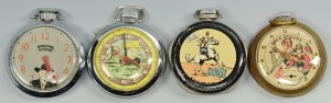 Lot 750: 4 Vintage Pocket Watches, TV Heroes
