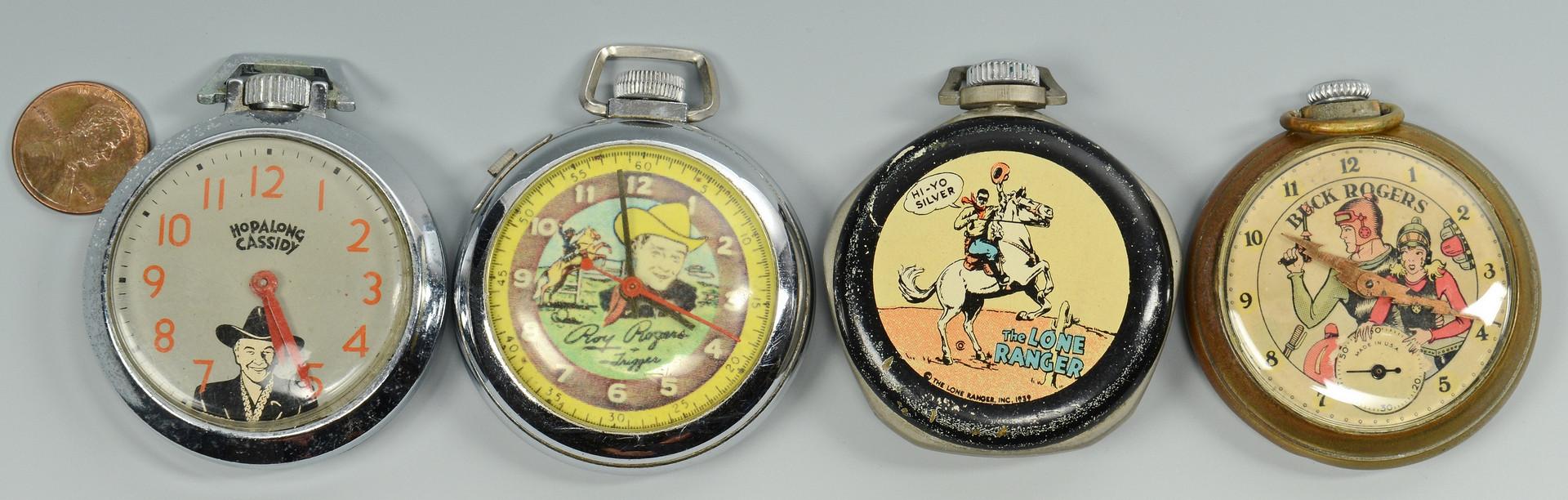 Lot 750: 4 Vintage Pocket Watches, TV Heroes