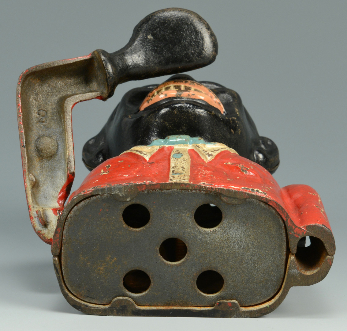 Lot 752: Cast Iron Bank and 2 Doorstops