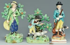 Lot 756: 3 Staffordshire Hunting Figures inc. Walton