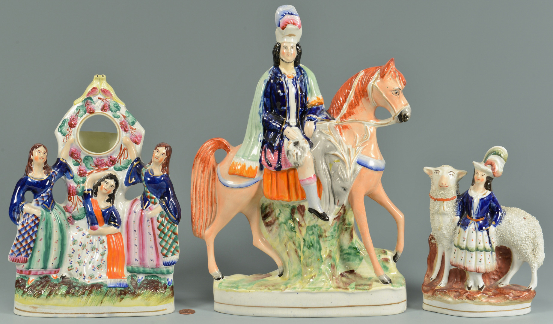 Lot 758: 3 Staffordshire Figurals