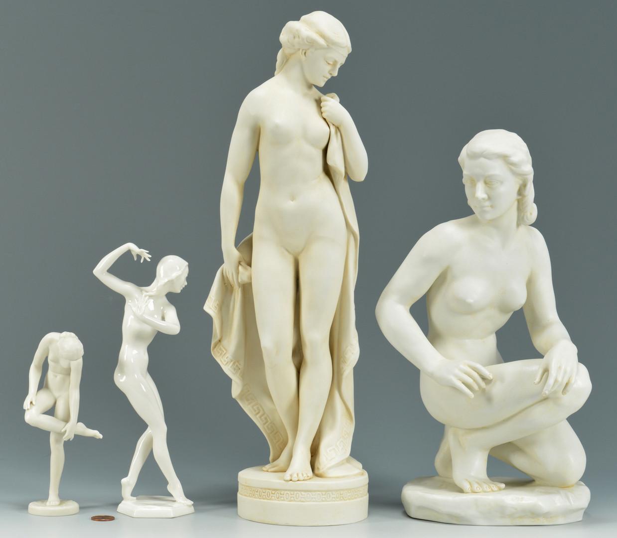Lot 763: 4 German Porcelain Nudes inc. Dresden