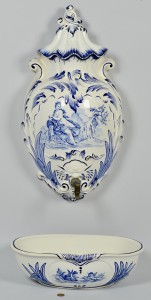 Lot 764: French Enameled Wall Font