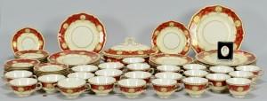 Lot 766: Royal Worcester Red Hatfield Porcelain, 77 pcs.