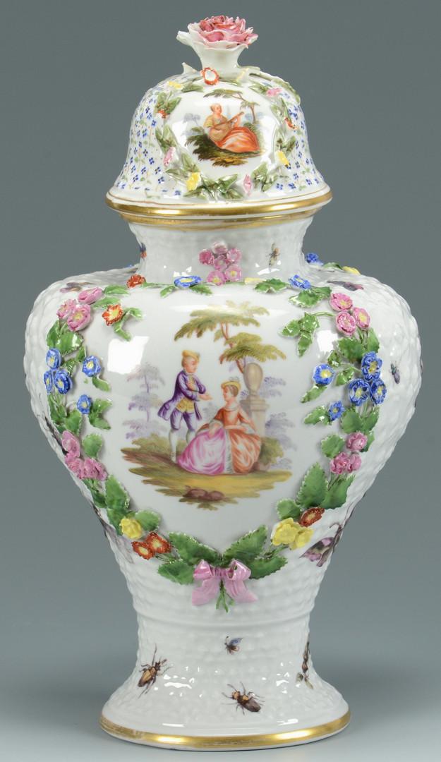 Lot 768: Le Mieux Czech dinnerware & Meissen style jar