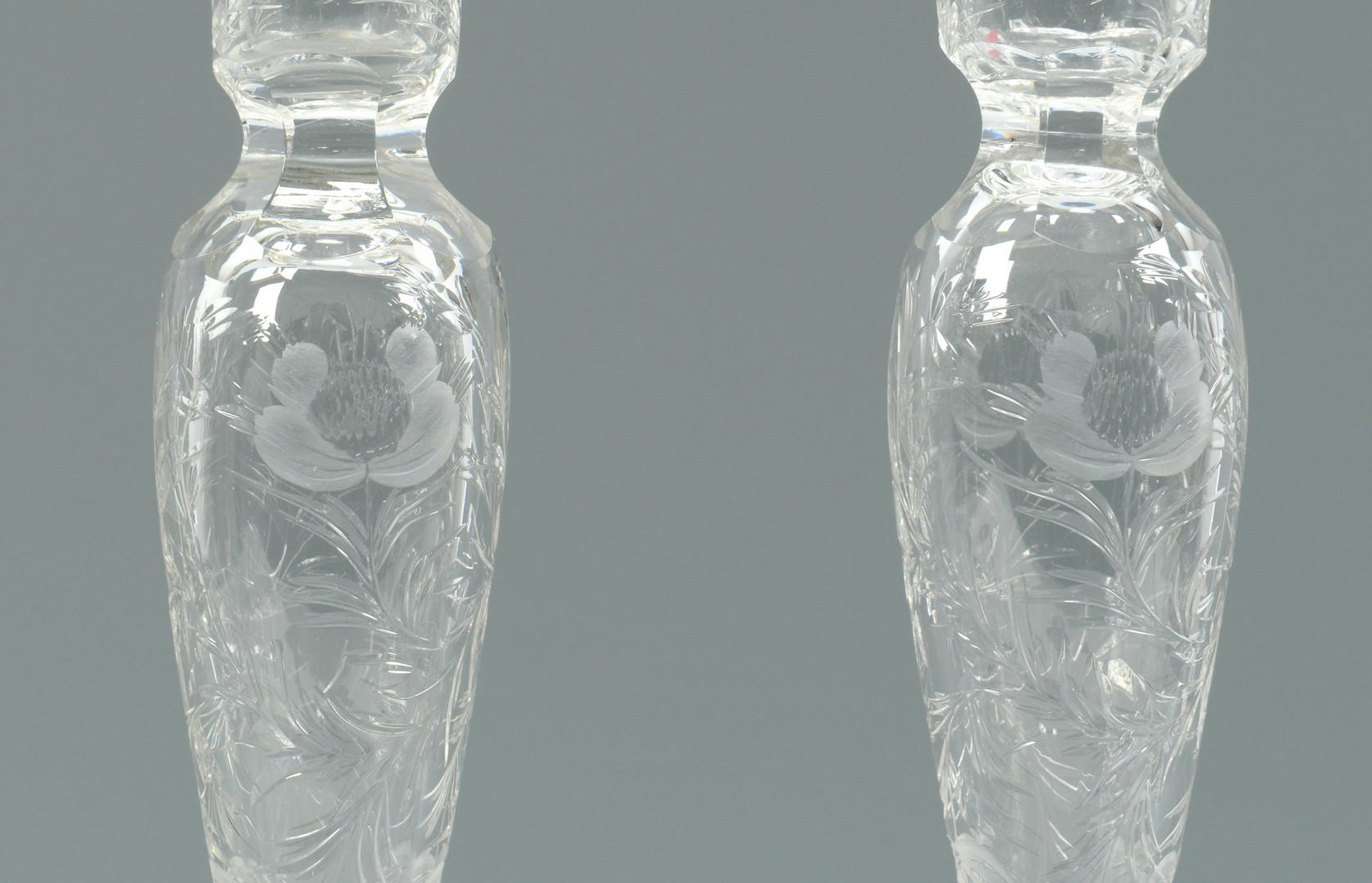 Lot 771: 26 pcs glass inc Heisey New Era, Candlesticks and