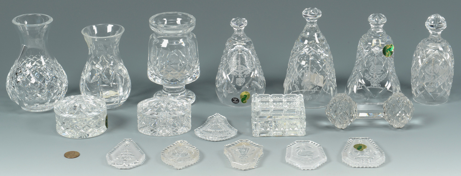 Lot 773: 17 Waterford Crystal Items