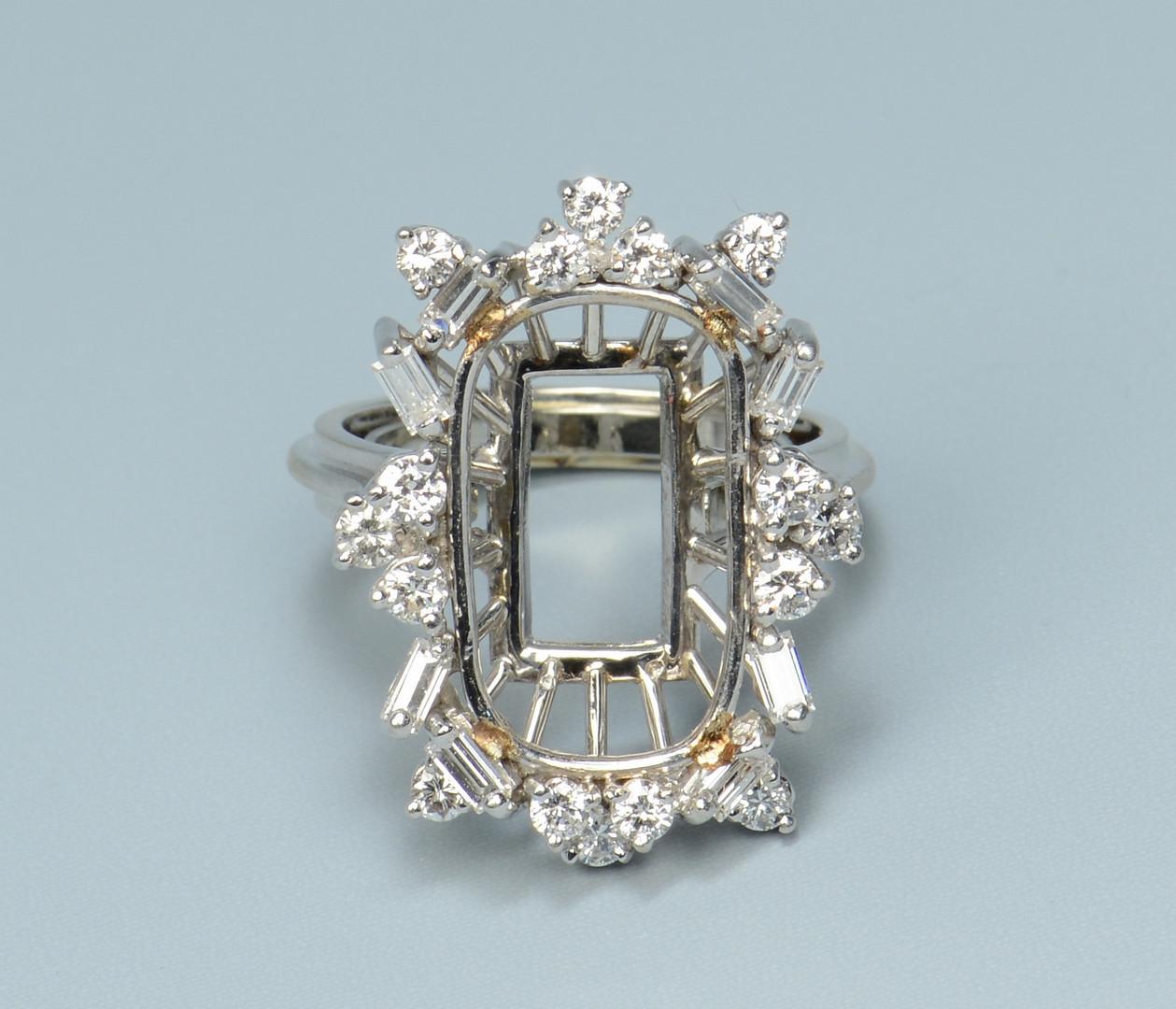 Lot 778: 18k Diamond Ring Mounting