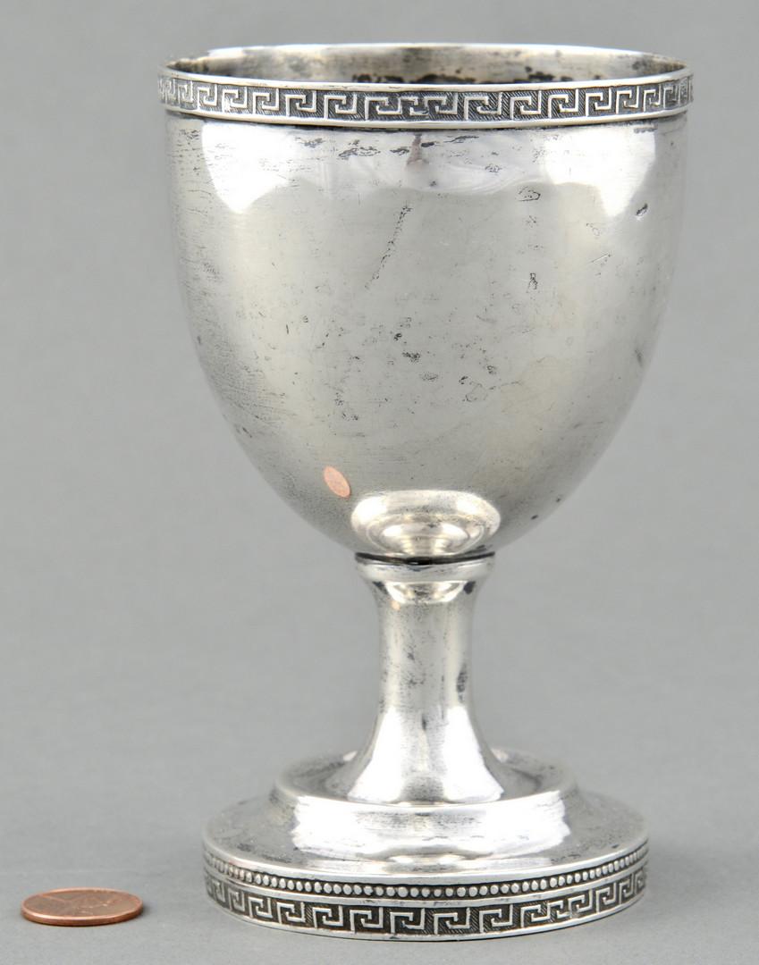 Lot 77: TN Calhoun Coin Silver Goblet
