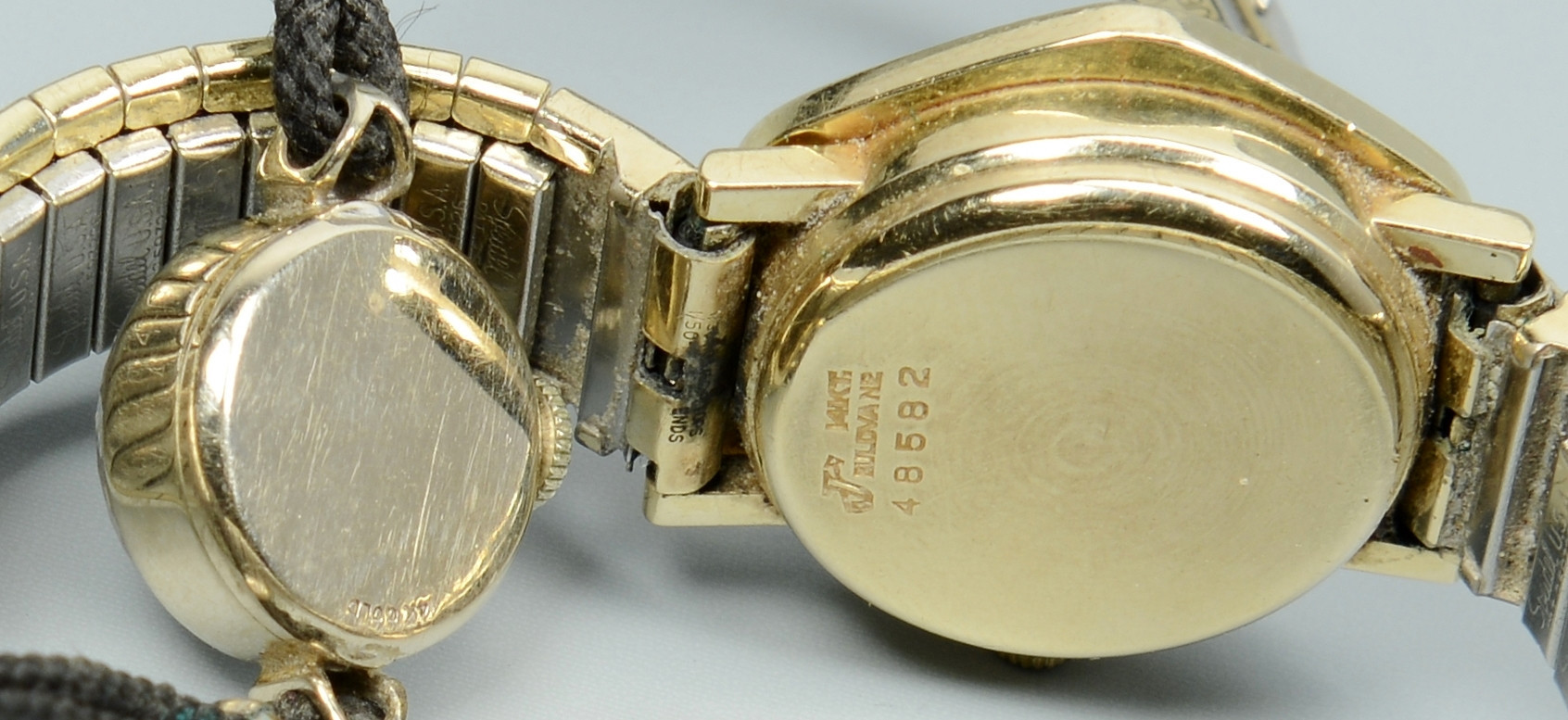 Lot 782: Four 14k Gold Wrist Watches