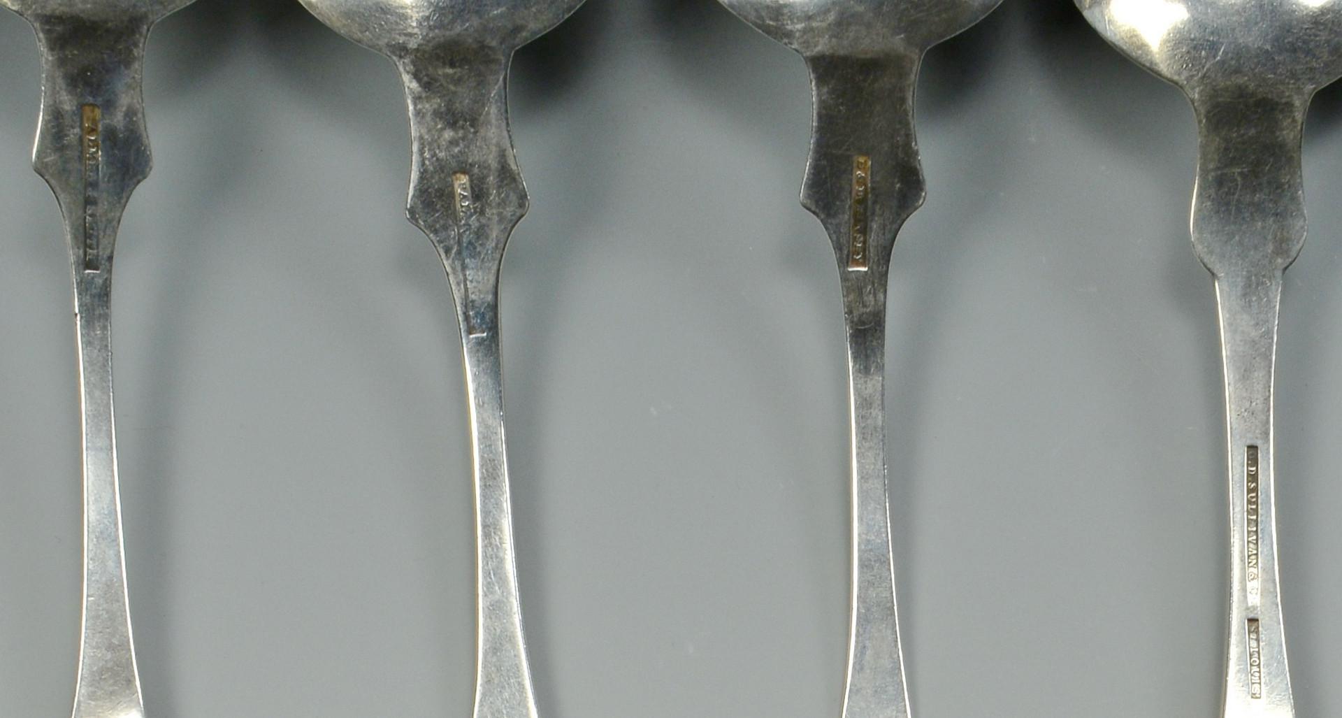 Lot 788: 12 pcs coin silver, St. Louis & Ohio