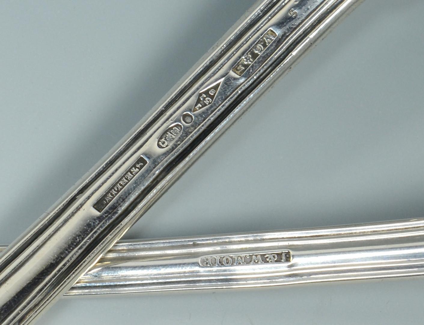 Lot 789: NY Silver spoons and ladles, 9 pcs