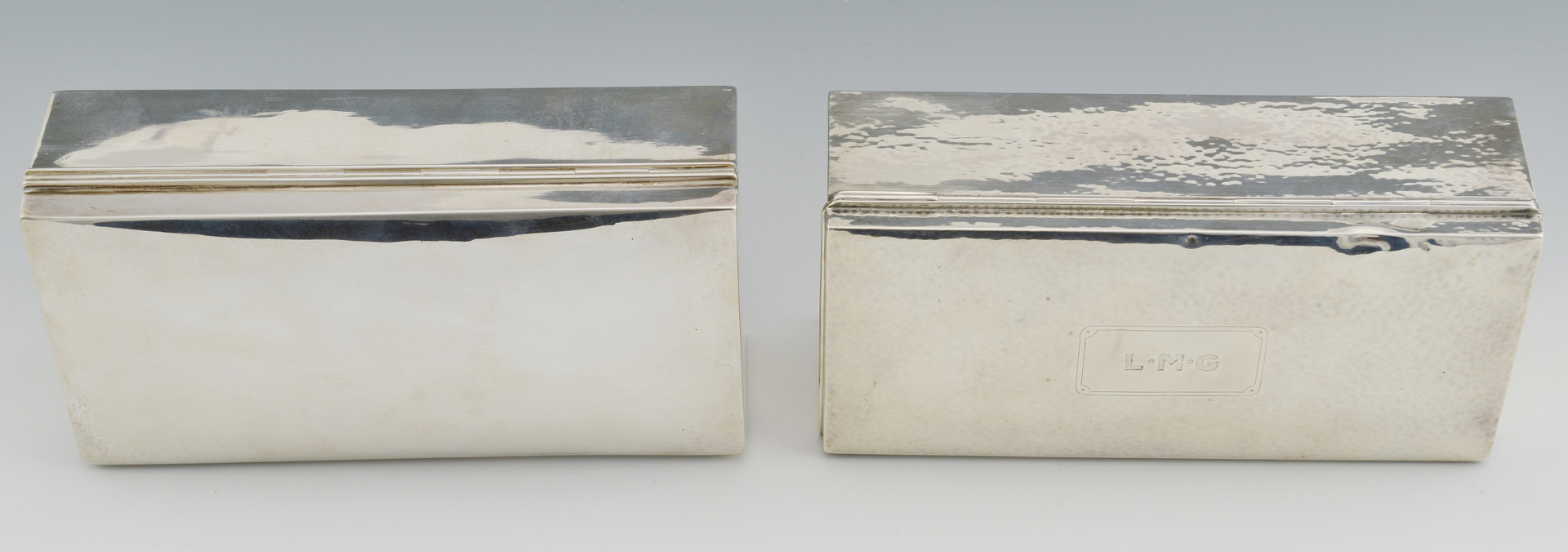 Lot 792: 2 Sterling Silver Boxes