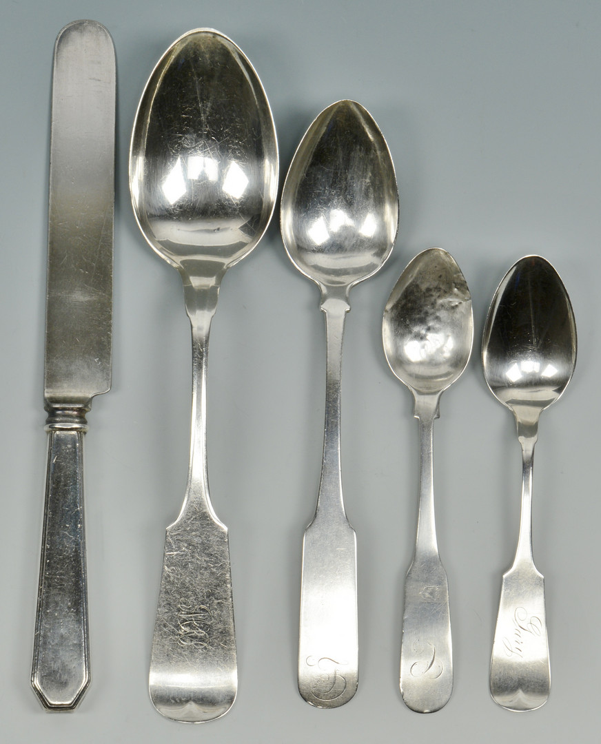 Lot 797: Sterling & Coin Flatware inc. Whiting, 37 pcs