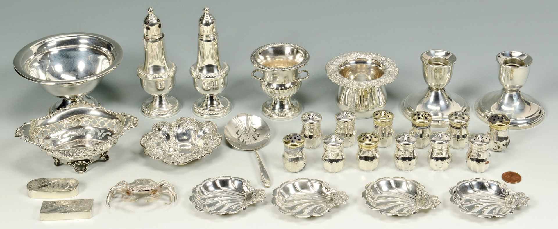 Lot 798: Assorted Sterling Silver Table Items