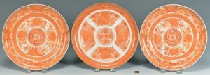 Lot 7: 3 Export Plates: Orange Fitzhugh