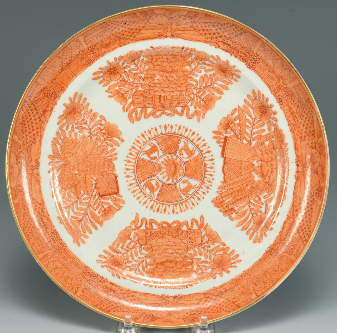 Lot 7: 3 Export Plates: Orange Fitzhugh