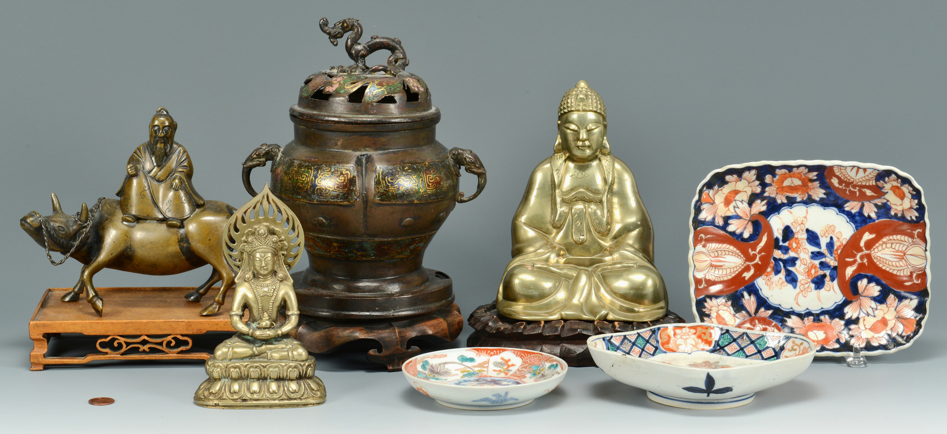 Lot 804: 7 Asian decorative items
