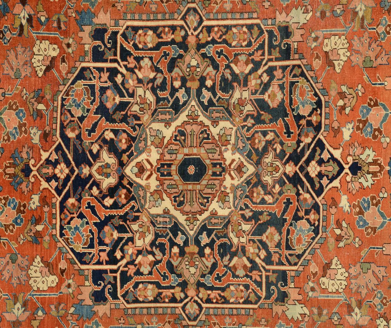 Lot 817: Persian Heriz Carpet, 12.6 x 8.3