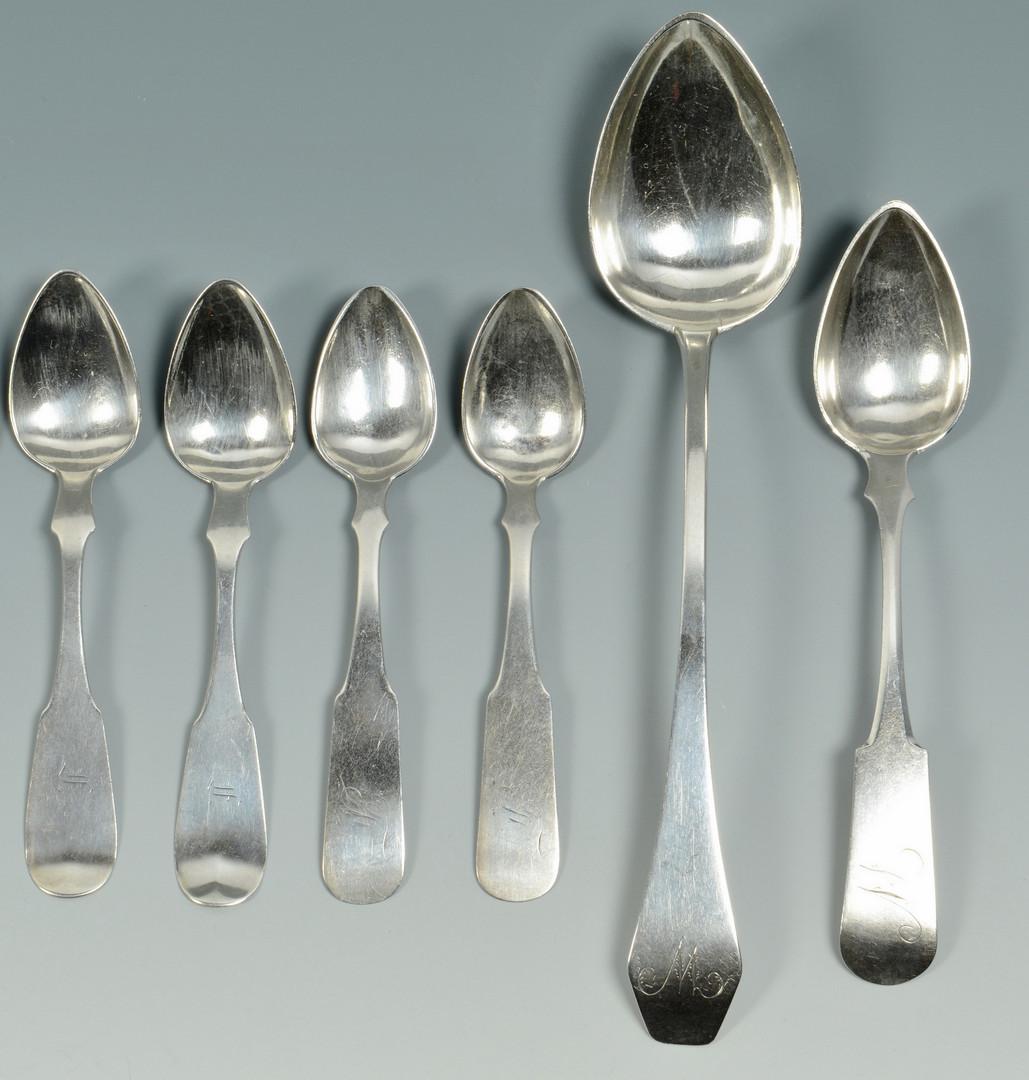 Lot 81: 14 Coin Silver Spoons, Kentucky