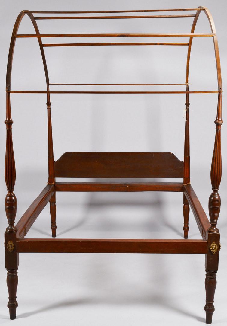 Lot 826: Mahogany Federal Field Bed, circa 1800