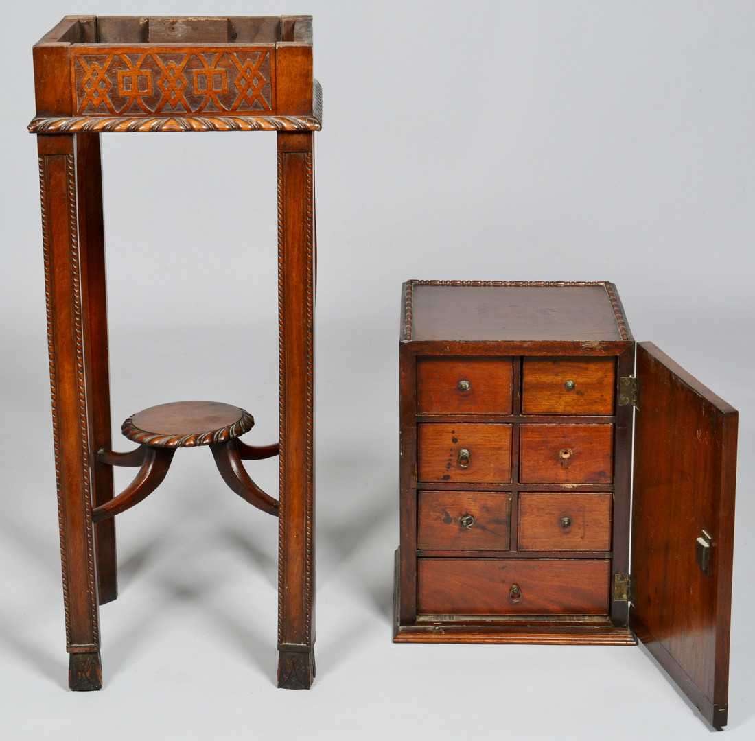 Lot 827: Chippendale style Cabinet on Stand