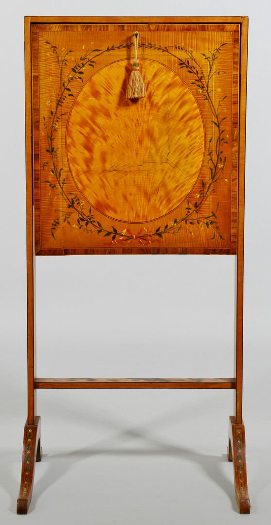 Lot 828: Painted Escritoire or folding ladies desk