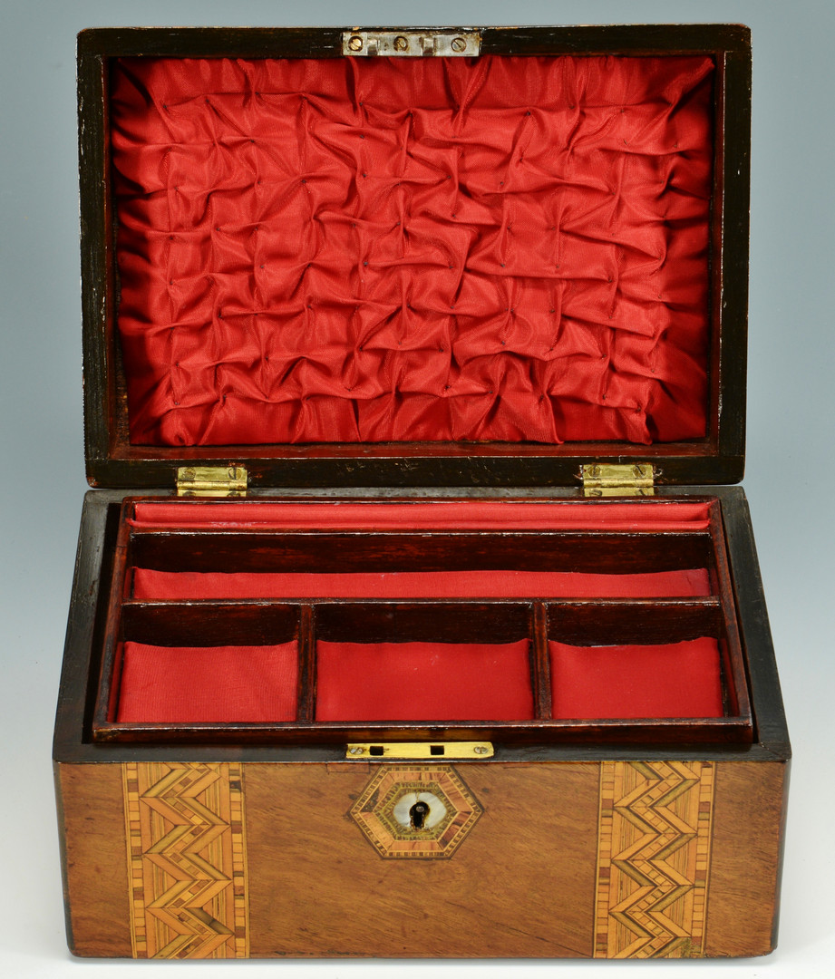 Lot 835: Two 19th c. Inlaid Boxes
