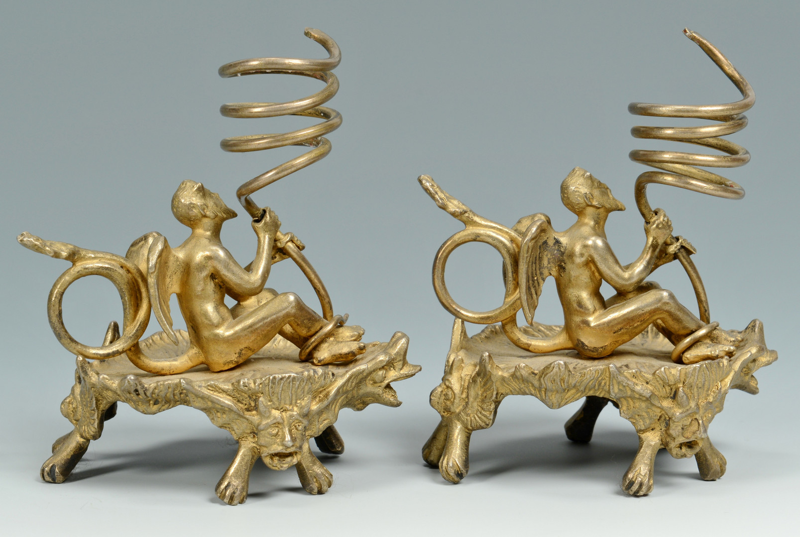 Lot 837: Satyr Candlesticks and Mounts