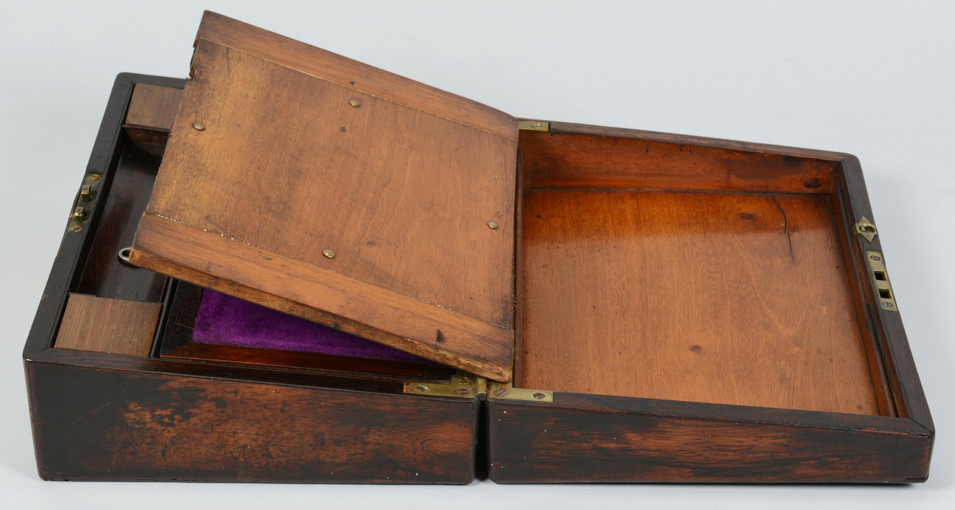 Lot 840: Lap Desk & 10 Assd. small items
