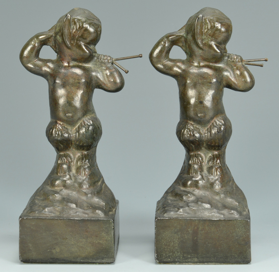 Lot 845: 3 sets of bookends & Indian tray
